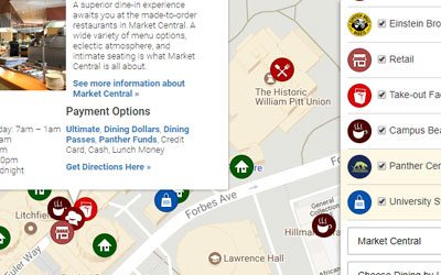 Housing and dining interactive map